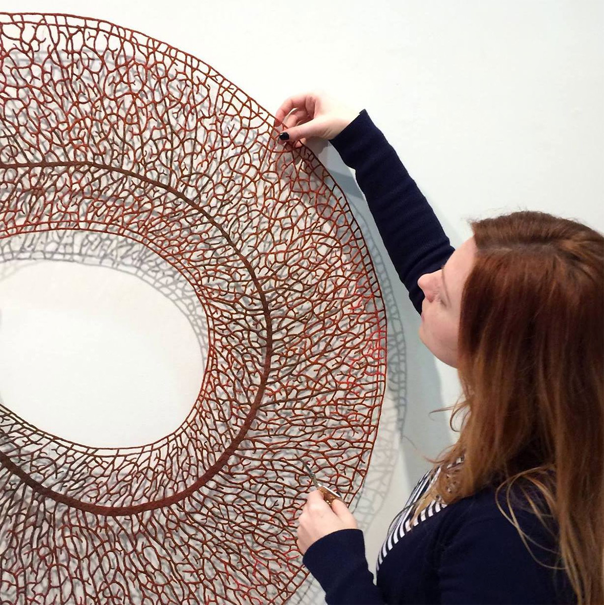Meredith Woolnough's Embroideries Mimic Delicate Forms of Nature nature embroidery