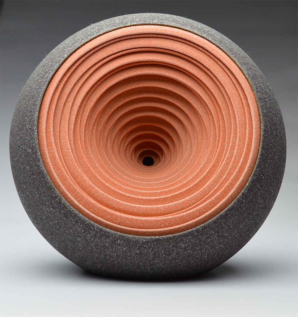 Concentrically Layered Ceramic Sculptures and Vessels by Matthew Chambers  sculpture ceramics abstract