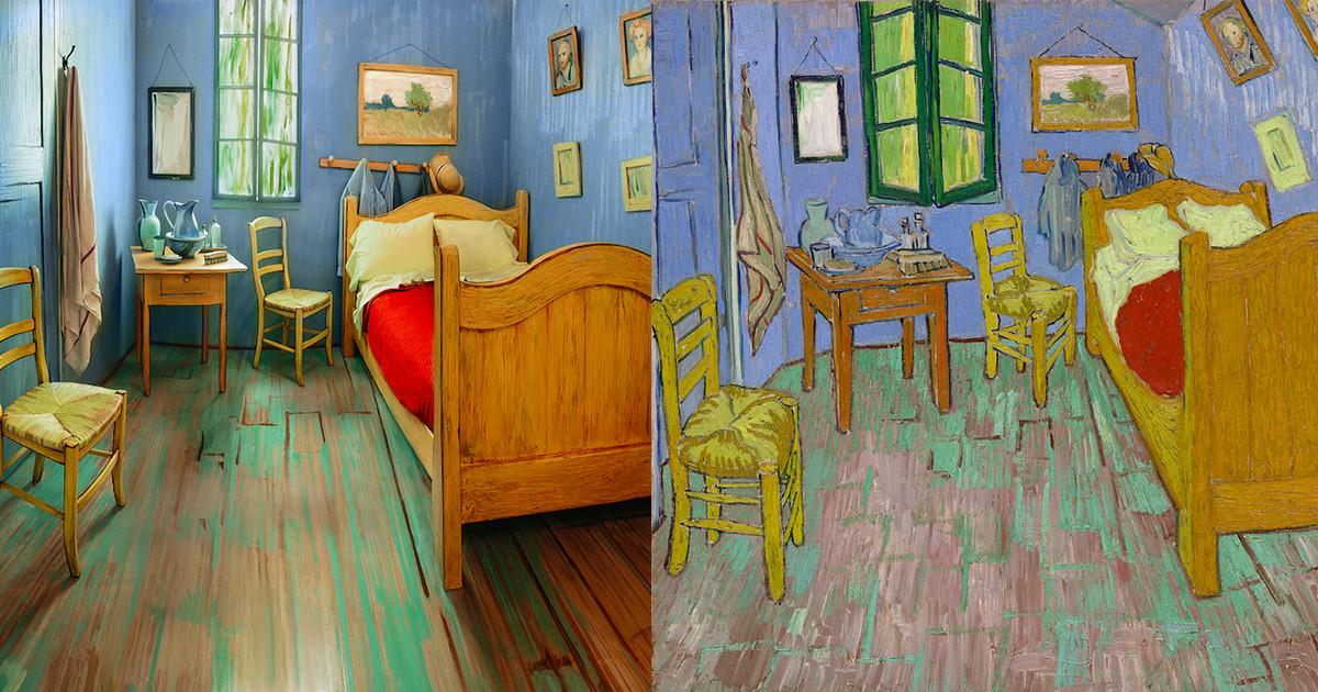 the art institute of chicago recreates van gogh's famous bedroom