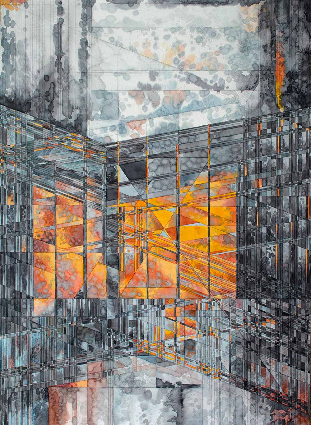 Geometric Watercolors By Artist Jacob Van Loon Colossal