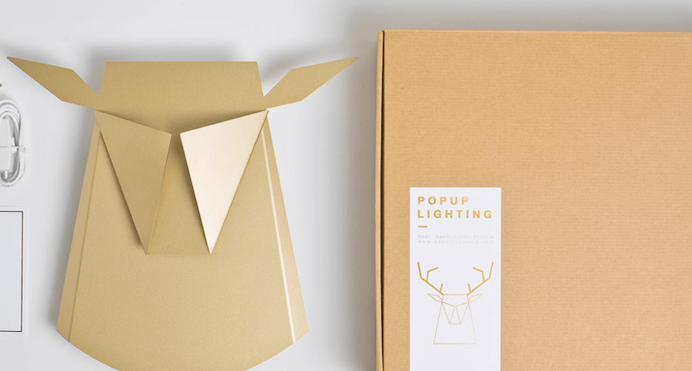 Folded Aluminum Lamps Project Feathers And Antlers When