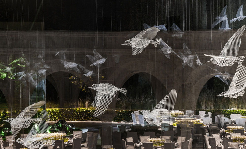 An Expansive Pavilion Of Architectural Elements Constructed From Wire Mesh By Edoardo Tresoldi
