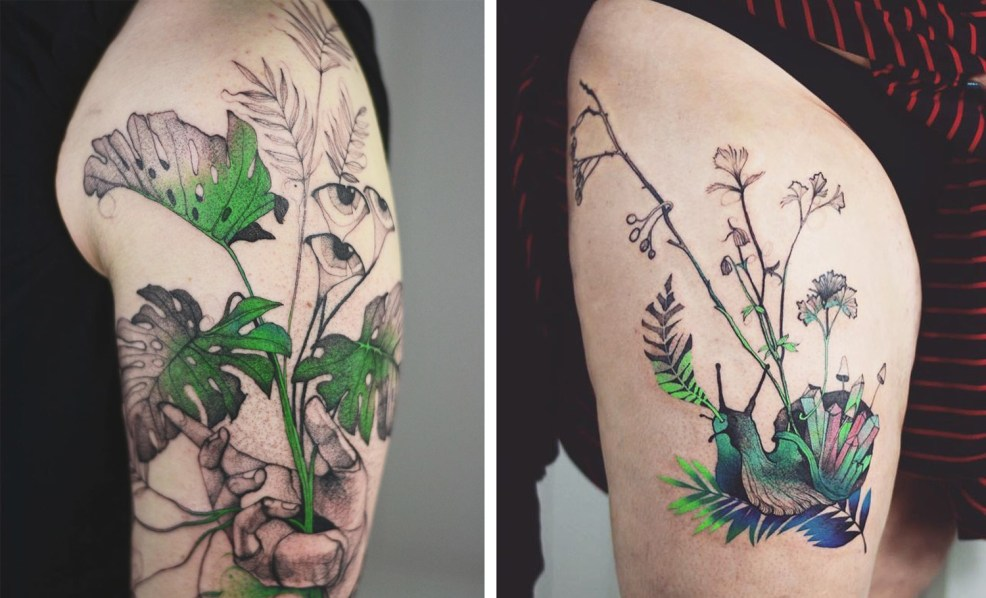 New Psychedelic Tattoos Splashed With Neon Detail By Joanna Swirska