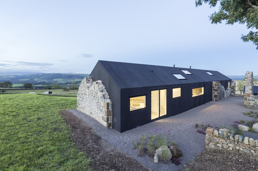 A Modern Solar Powered Home Built Within The Ruins Of An