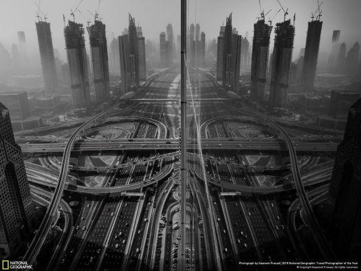 "Cities: Third Place Winner, ""Reflection"" by Gaanesh Prasad."