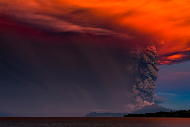 Towering Plumes of Volcanic Smoke Mix With Streaks of Lightning in ...