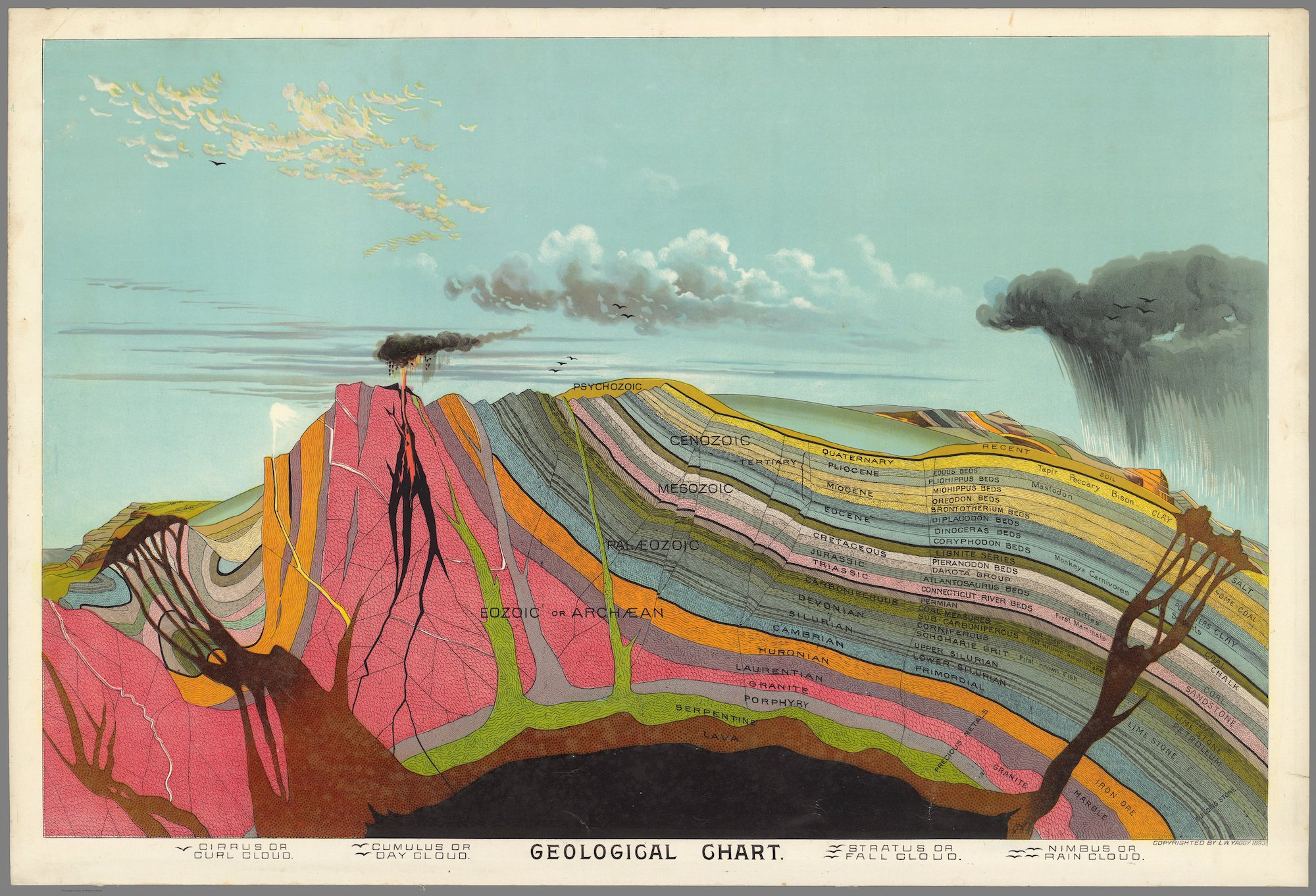 Cross Sections Of Geological Formations And Views Of The