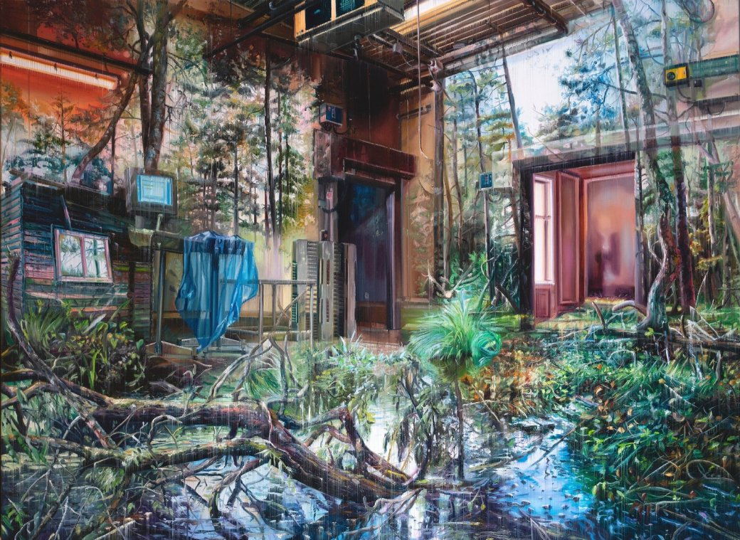 Multi-Layered Oil Paintings by Jacob Brostrup Blur Natural and Built Environments 4