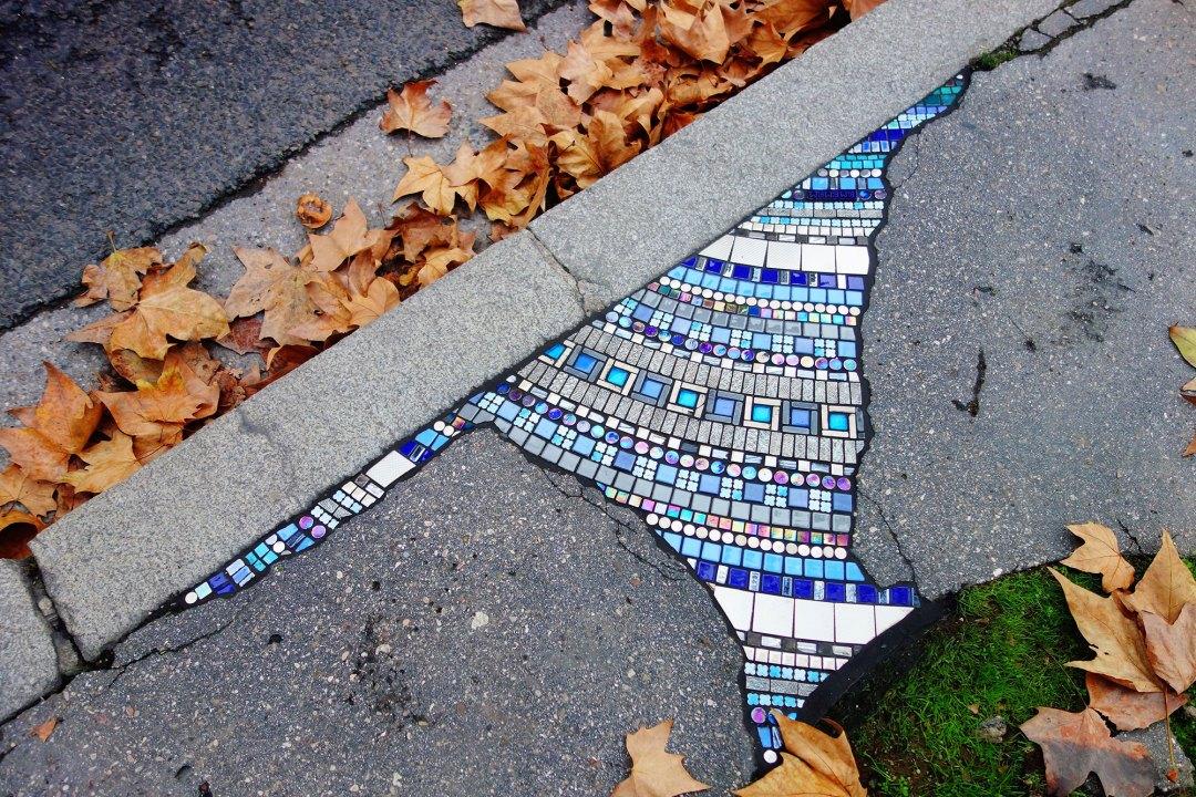 Ceramic Mosaics Mend Cracked Sidewalks, Potholes, and Buildings in Vibrant Interventions by Ememem