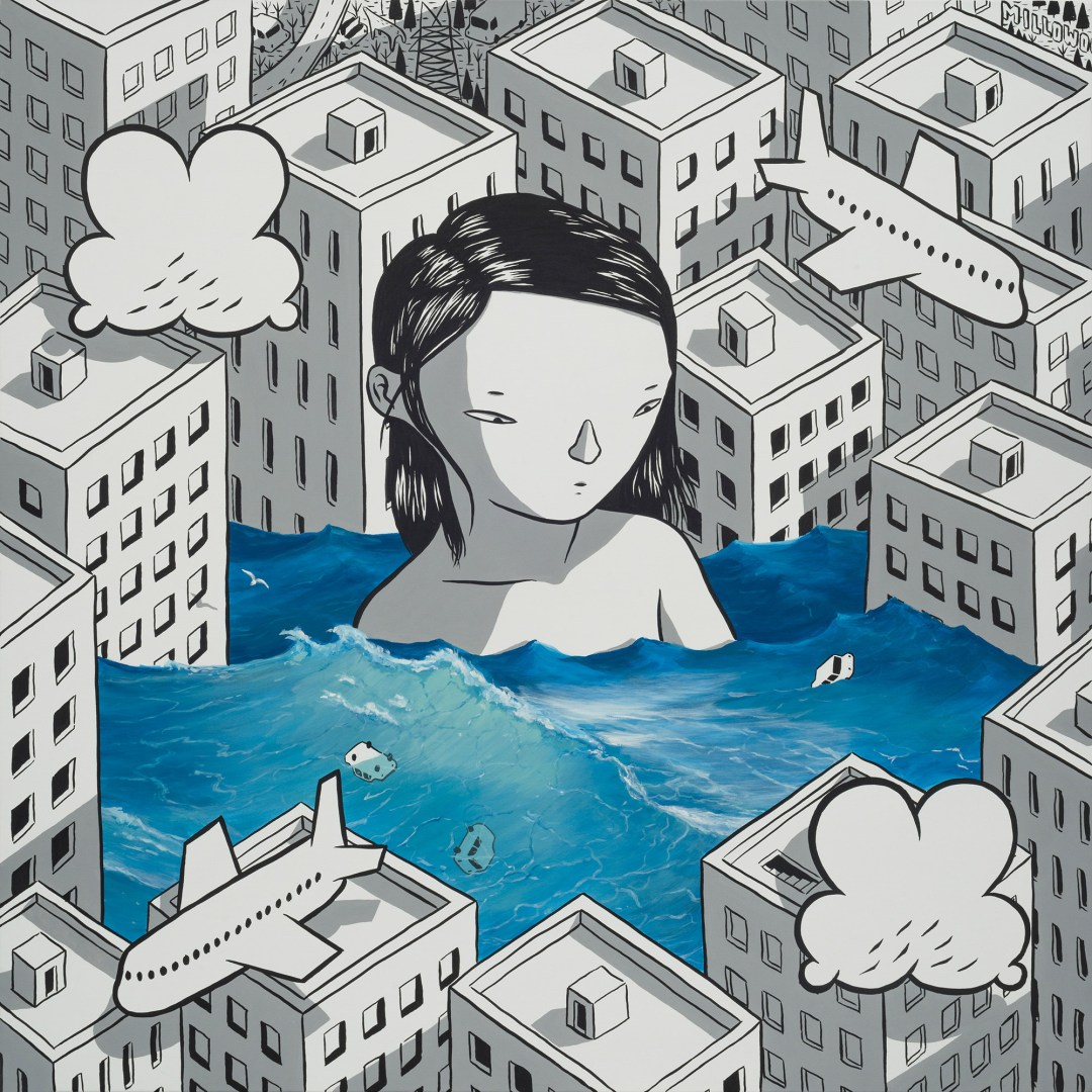 Vibrant Dream States Trap Oversized Characters Mid-Slumber in Millo's Paintings
