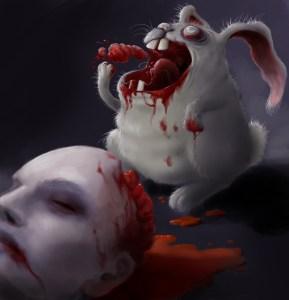 Zombie bunny by Manon Delacroix