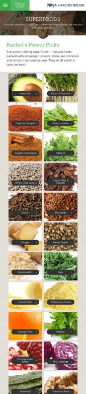Rachel Beller Superfoods Page