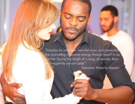 Kizomba is the channelling of positive energy to my partner