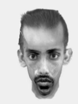 E-fit released of man wanted in connection with sexual exposure. Looks like he has a bit of Somalian in him with the size of that forhead
