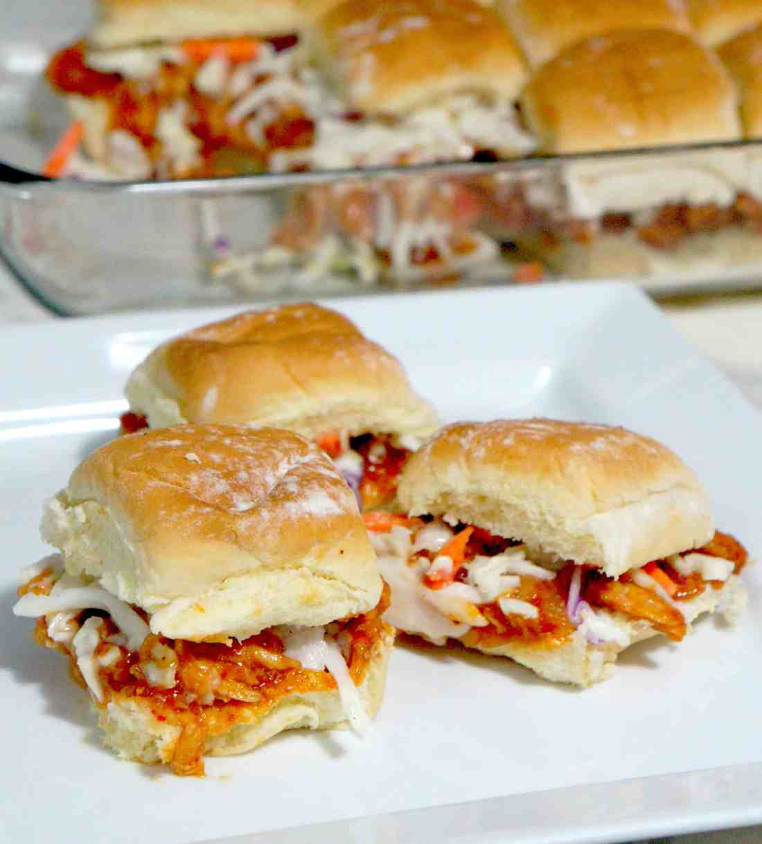 Sweet Chili BBQ Chicken Sliders