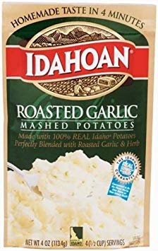 Idahoan Roasted Garlic Mashed Potatoes 4 oz (Pack of 12)
