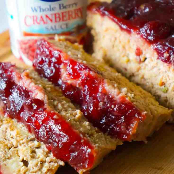 Turkey Meatloaf is an easy ground turkey recipe packed with all the flavours of Thanksgiving. This 2 pound turkey meatloaf is made with Stove Top stuffing and topped with cranberry sauce.