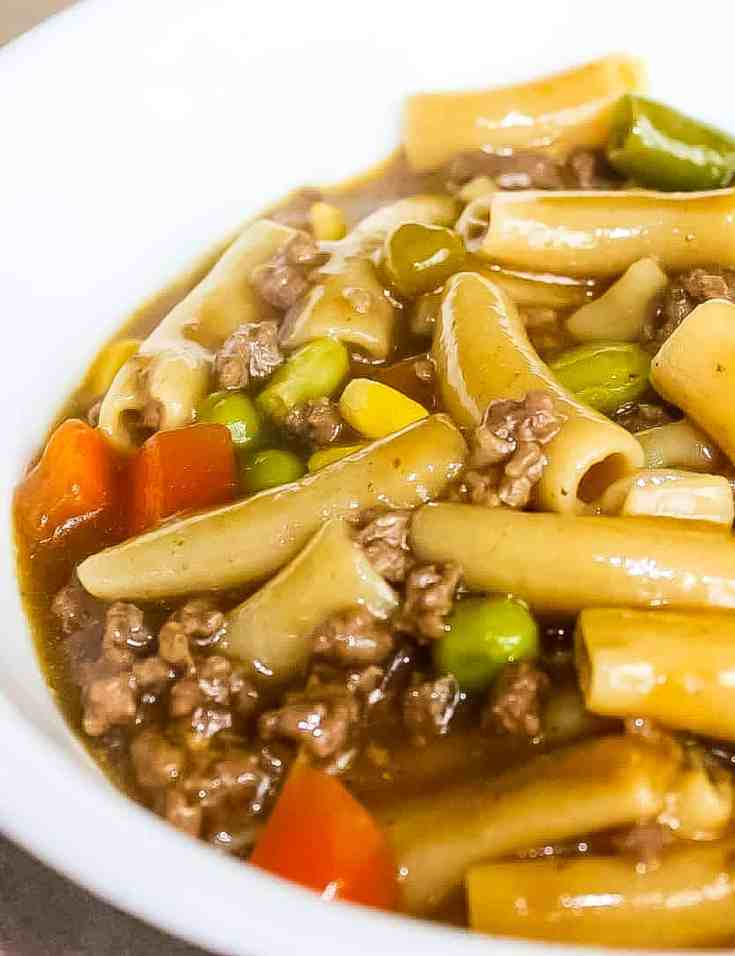Instant Pot Ground Beef and Noodles