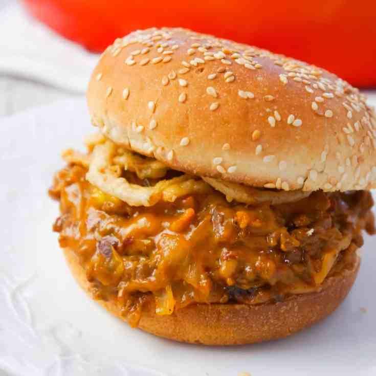 BBQ Bacon Cheeseburger Sloppy Joes