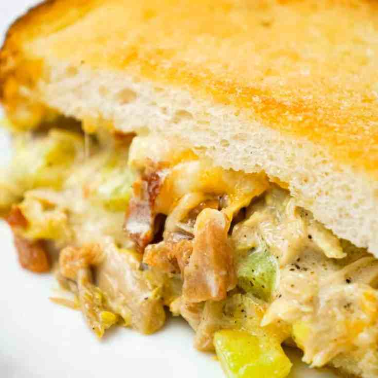 Dill Pickle Chicken Grilled Cheese Casserole