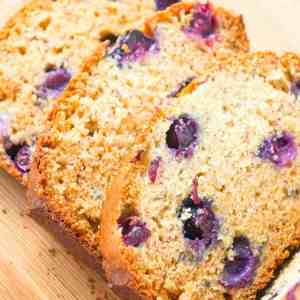 Blueberry Banana Bread is a tasty treat made with ripe bananas and loaded with fresh blueberries.