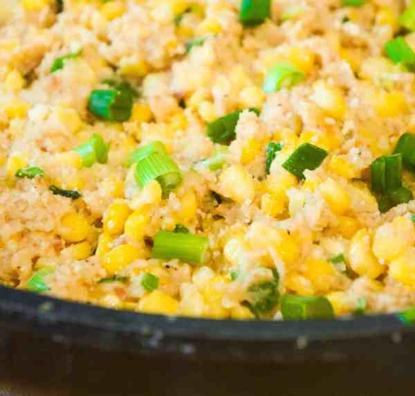Cheesy Ritz Cracker Corn is a great Thanksgiving side dish.