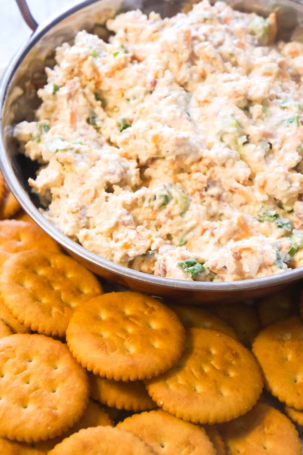 Bacon Cheddar Dip is perfect for potluck parties.