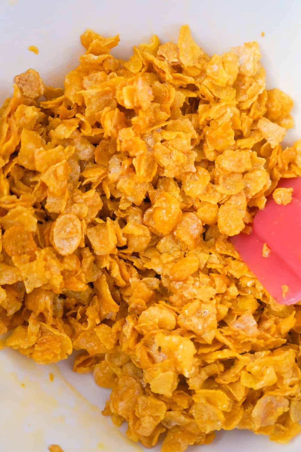 frosted flakes coated in egg