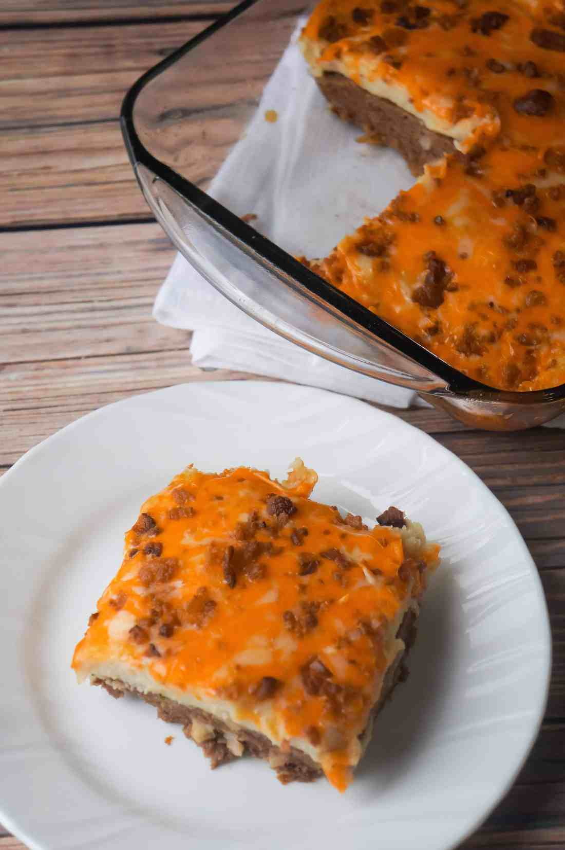 Easy casserole recipe using ground beef. Easy dinner recipe.