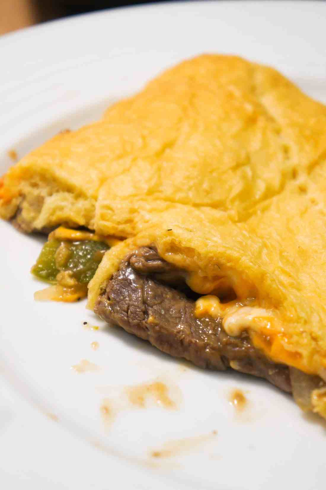 Philly Cheese Steak Crescent Bake is a twist on the Philly Cheese Sandwich.