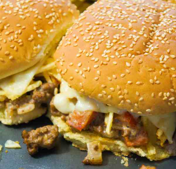 Potato Chip Loose Meat Sandwiches are an easy dinner recipe.
