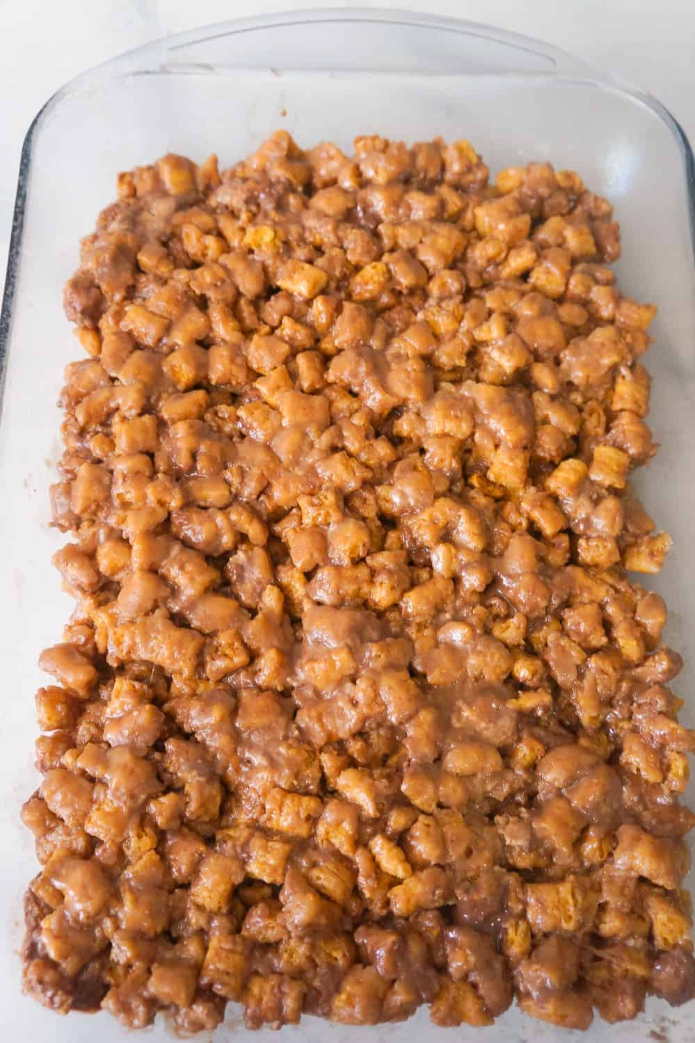 peanut butter captain crunch bars in pan