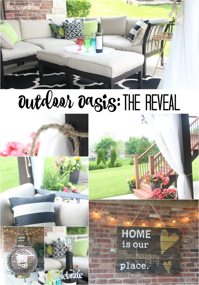 outdoor oasis - the reveal - outdoor backyard patio - thisisourbliss.com