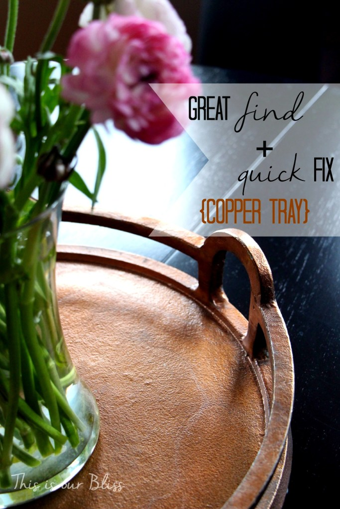 great find + quick fix copper tray - This is our Bliss