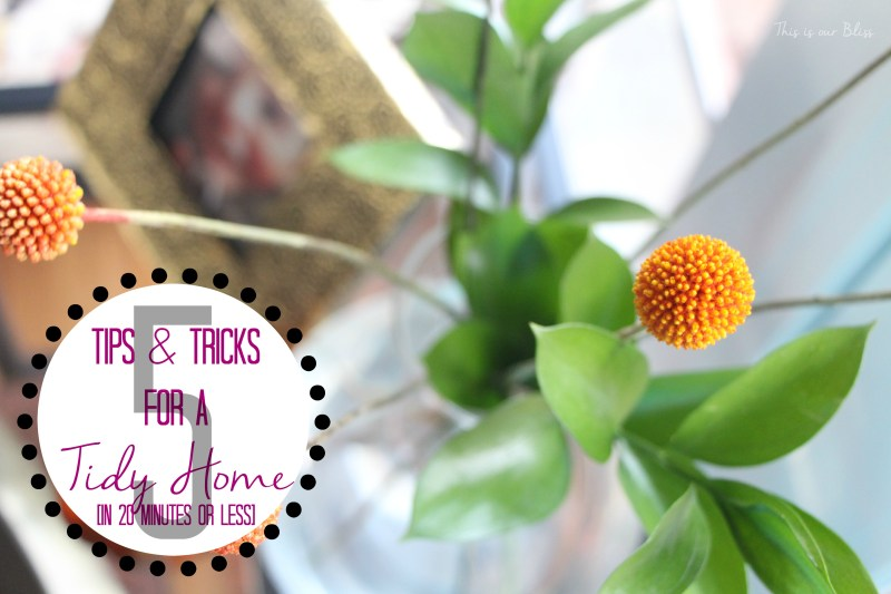 5 Tips and tricks for a Tidy home - This is our Bliss