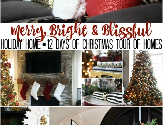 Merry bright and blissful holiday home 12 days of Christmas Tour of Homes