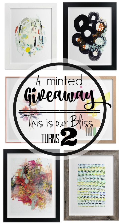 A minted giveaway | This is our Bliss turns 2 | 2 year bloggiversary || www,thisisourbliss.com