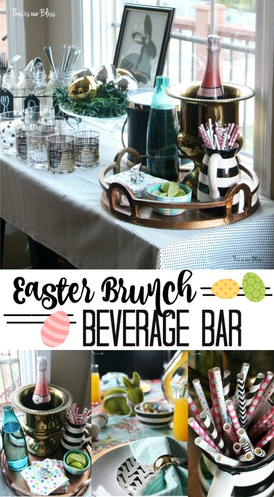 DIY Easter Brunch beverage bar | Spring table | Easter tablescape || This is our Bliss