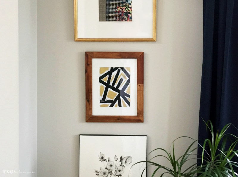 DIY-black-white-gold-geometric-art-in-dining-room-gallery-wall This is our Bliss
