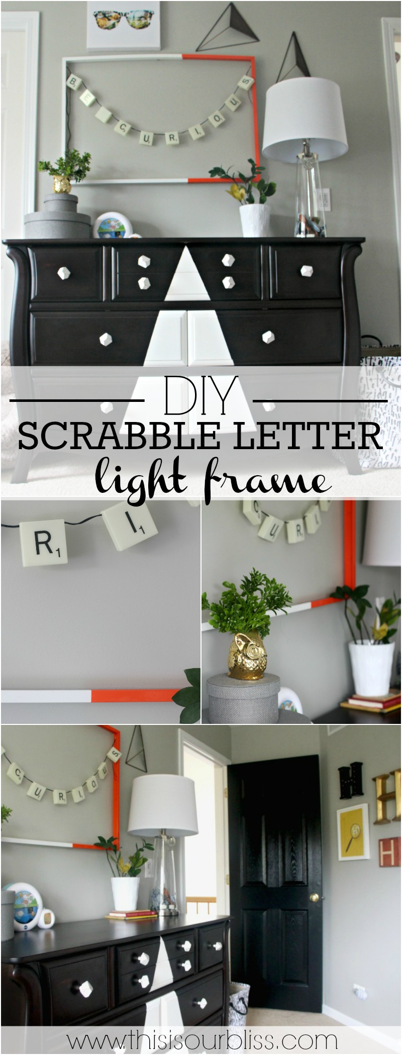 Scrabble Letter Wall Decor Diy Scrabble Letter Light Frame Be Curious This Is Our Bliss