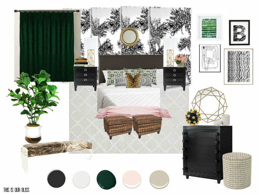 Chic Modern Eclectic Master Bedroom | Before Photos & Mood Board