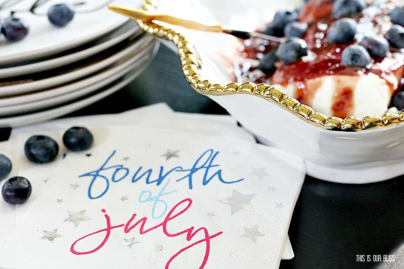 Festive & Frugal 4th of July Party Ideas | 30 second Raspberry Chipotle Cream Cheese Dip | This is our Bliss