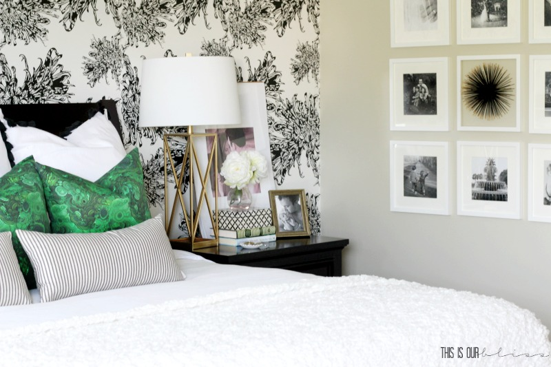 How to Hang a Simple Gallery Wall with a Pop of Personality [Master Bedroom Refresh Update]