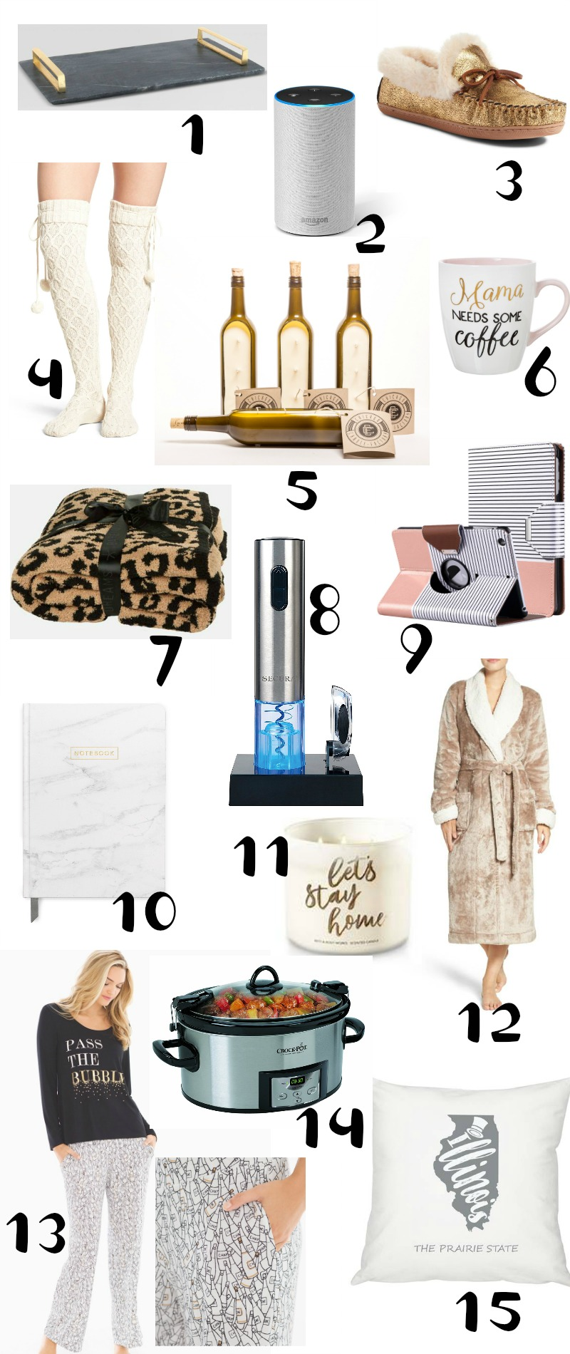 The Ultimate Holiday Gift Guide for the Home-Girl - things that will keep her feeling cute, cozy and comfortable!