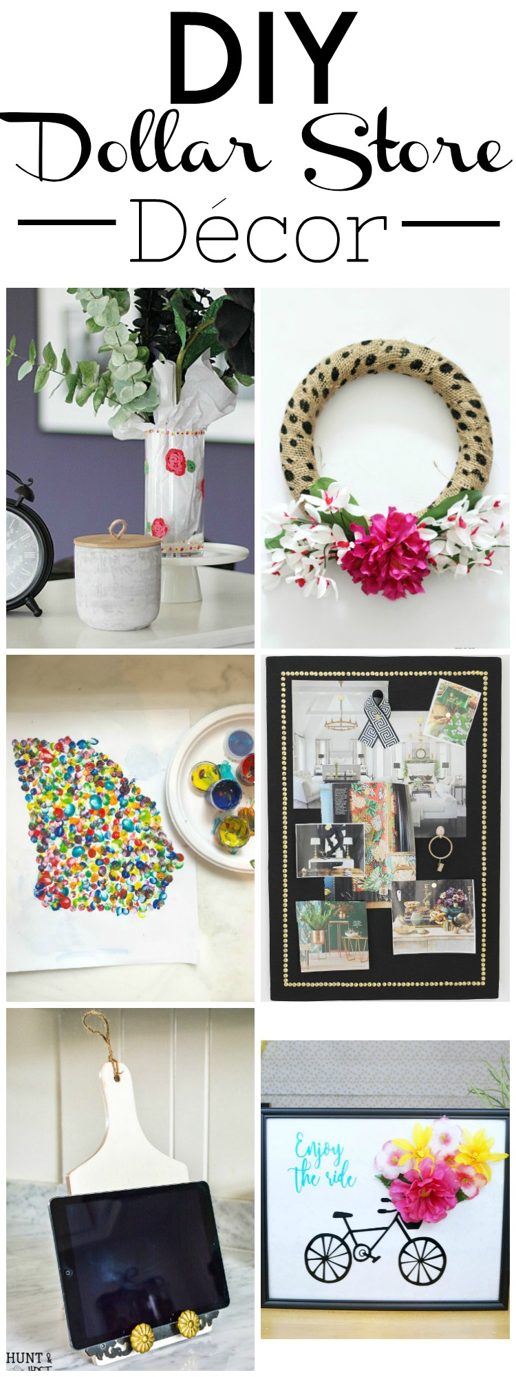 diy dollar store centerpieces dollar tablet holder diy hunt and host 10718