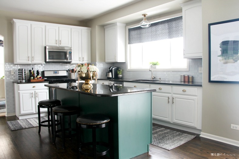 See our bright white & bold Kitchen revamp | New Year New Room Refresh Challenge | This is our Bliss
