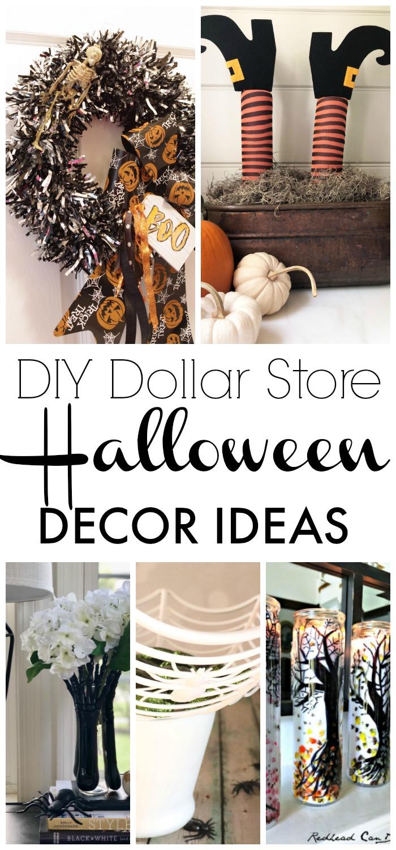 My DIY Dollar Store Halloween Decor Ideas