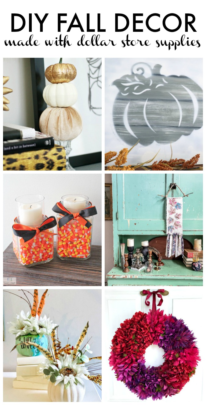 My dollar Store DIY Fall Decor - Fall Decor ideas with dollar store supplies - This is our Bliss
