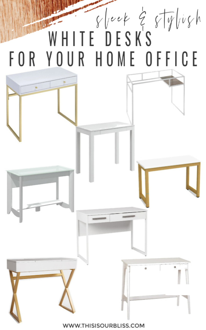 10 Sleek Stylish White Desks For Your Home This Is Our Bliss