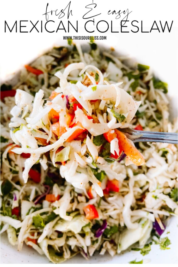 Mexican Slaw - This is our Bliss #mexicanslaw #coleslawrecipe #tacotuesday
